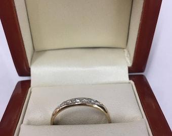 9ct Yellow Gold Diamond Eternity Ring Size Q