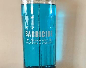 Vintage Glass Barbicide Jar, Comb Disinfectant Jar, King Research Inc Jar, Barbershop Decor, Hair Salon Decor, Antique Disinfectant Jar