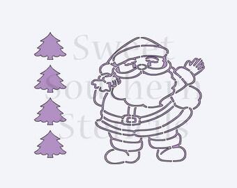 Santa PYO Cookie Stencil