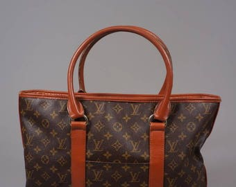 Louis Vuitton Leather Cloth Vintage Bag