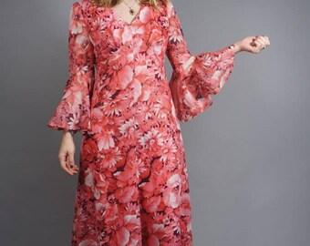 70s Flower Maxi Dress