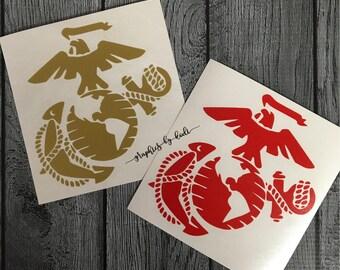 Marine Corps Decal - USMC - United States Marine Corps - Decal - Sticker