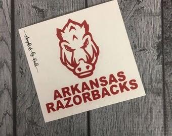 Arkansas Razorback Decal - Arkansas Razorbacks - Sticker