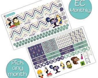 Emperor's New Groove Monthly Kit for Erin Condren Planner - Pick ANY Month! - Disney Planner Stickers