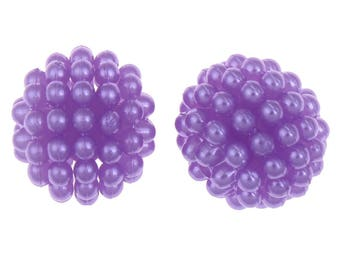 Lot 10 Pearl acrylic 10mm raspberry purple Pearl Chunky Bubblegum Gunball 10 mm, Chunky necklace