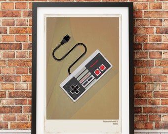 Retro Nintendo Video Game Print