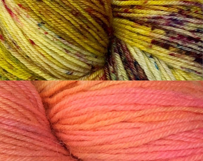 OOAK - Hand dyed on Authentic Sock