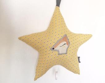 Musical mobile handmade star DOE fabrics
