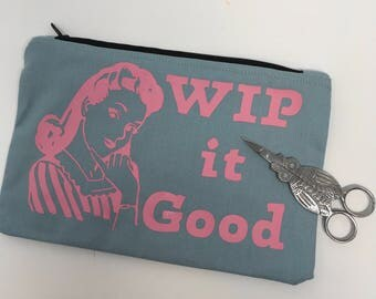 WIP it good Linen Canvas notions pouch