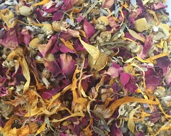 QTY 50 - Relaxing Bath Tea Blend - 2 big tea bags - special event pricing for wedding favors, bridal shower favors, and baby shower favors.