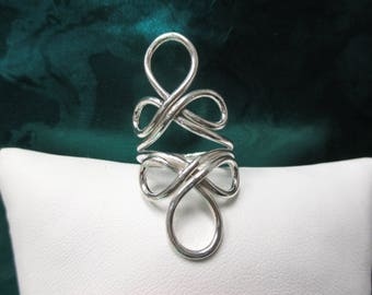 Sterling Silver Large Fashion Ring