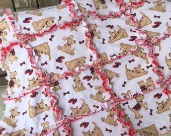 Puppy Dog Rag Time Quilt