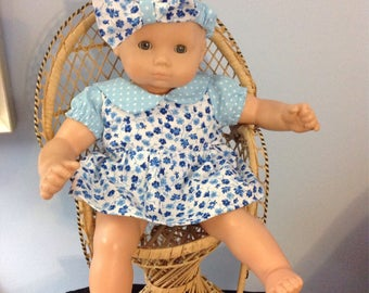 Bitty baby Romper and hair bow with FREE shipping