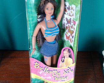 Butterfly Art Barbie Beach Tattoo Teresa Collectors Doll