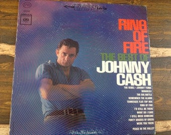 Ring of Fire The Best of Johnny Cash Vintage Vinyl Record LP 1963