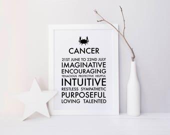 Cancer Star Sign Print