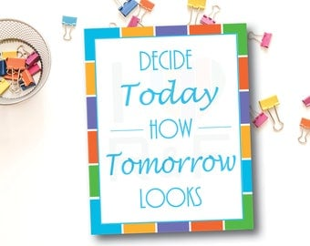 "Printable Rodan and Fields Sign Flyer / Print From Home / Launch Party / 8"" x 10"" / Decide Today How Tomorrow Looks / INSTANT DOWNLOAD"