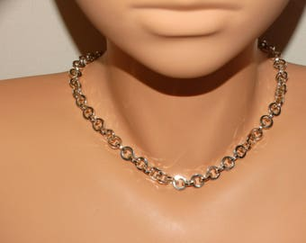 """Solid Sterling Silver Italy Made 16"""" Inch Handmade Necklace."""