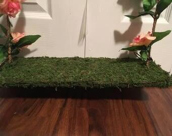 Handmade Moss Swing for photo prop