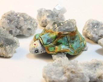 Celestite Turtle Totem!!! Turtle Medicine, Home, Sacred Space, Perfect Pace, Positive Energy, Handmade, Magical, Animal Figurine