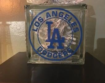 Dodgers light up glass block