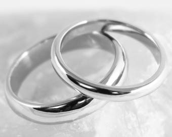 His and Hers D Profile Platinum 'Newlands' Wedding Rings