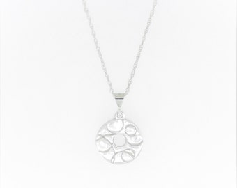 Small Circle Millstone Necklace