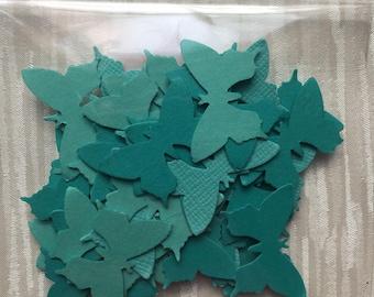 Light teal paper butterflies