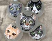 "Custom Cat Ornament (2.75"") - Hand Painted Christmas Ornament"