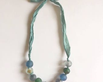 seaglass bauble necklace