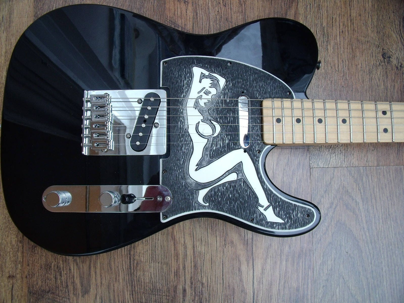 Scratchplate Pickguard For Telecaster Engraved Nude Pinup-1998