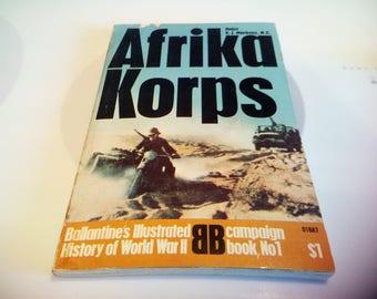 Afrika Korps Book By Major K. J. Macksey, 1968 First Printing, Ballantine Books, Inc.