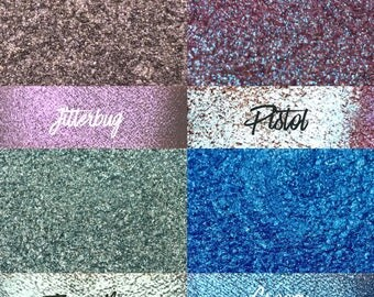 Pistol Bundle, 4 loose glitter pigment shadows, 10 gram jars