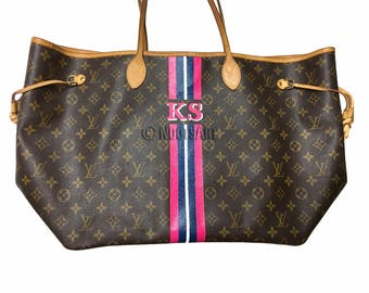 Personalized Monogrammed Louis vuitton Neverfull GM...Customer provide the bag!