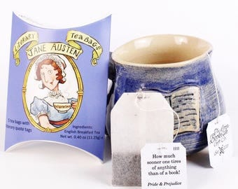 Jane Austen Literary Tea Bags - Three Pouches of 5 Individually Tagged Teabags Featuring Quotes from Austen's Classic Novels. Literary Gifts
