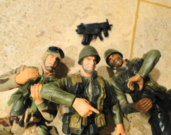 Lot of 3 GTI WWII army soldier men Grand Toys International