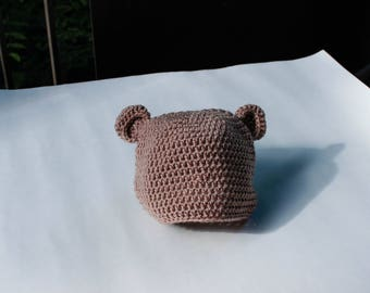 Teddy Bear Beanie (toddler 12-24 months)