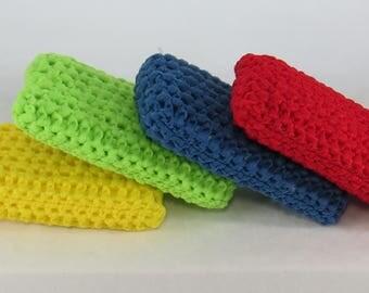 Scrubbie sponges, Cast Iron Sponge, kitchen sponge, pot scrubbie, crochet scrubbie sponge, sink scrubber, tulle sponge, cast iron scrubber