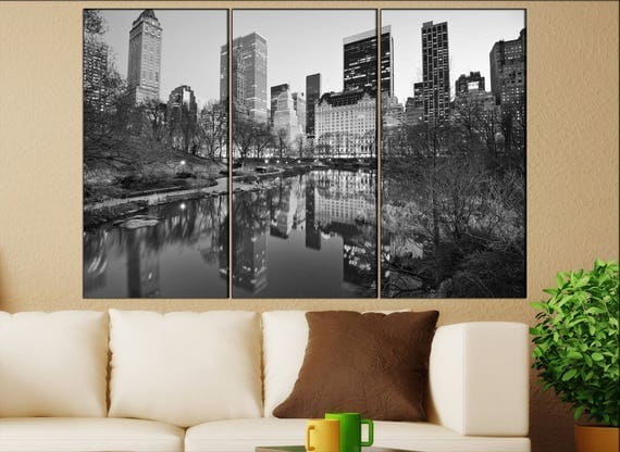 Central Park New York canvas wall art  Central Park canvas wall art art Central Park wall decoration Central Park large canvas wall art
