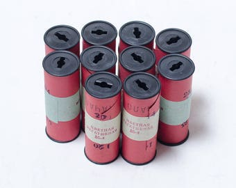 5 rolls of color 120 film Svema DS-4, DC-4. Expired film, Soviet medium format colour film. USSR roll film. Lomography negative. Lomo
