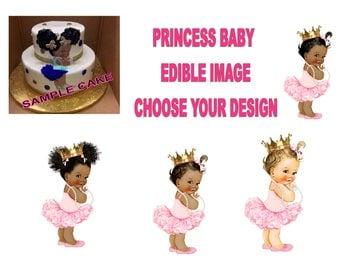 Baby Princess Edible image Cake Topper