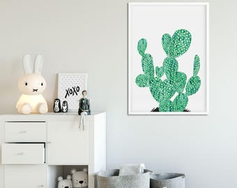 Cactus Wall Art cactus wall art | etsy