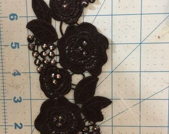Black hair accessory, Custom matching hairpeice , dance costume hair accessory, hair piece matching to your costume with Swarovski stones