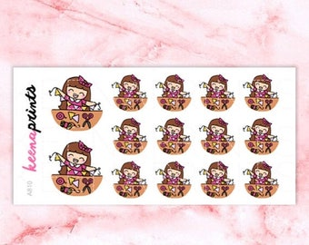 15% OFF A810 | Craft time stickers, Keenachi crafting stickers, art stickers, scrapbooking stickers, eclp stickers, emotion stickers, girl s