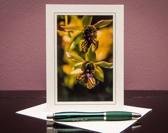 Orchids No.9-Greeting cards-Note Cards-Flower-Nature-Happy Birthday-Family-Love-Photo Card-Floral-Wedding-Celebration-Congratulation-Gift