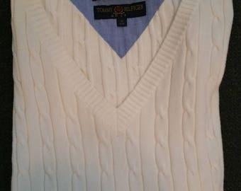 ON SALE Tommy Hilfiger Golf Cable Knit Sweater Vest Size M