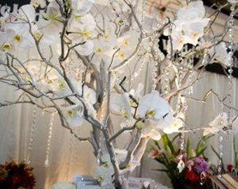 "12pk 36"" Tall Sterling Silver Manzanita Branches Only Centerpiece"