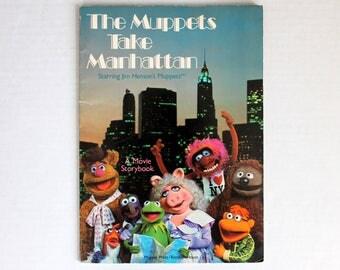Muppets Take Manhattan A Movie Storybook Starring Jim Henson's Muppets by Muppet Press Random House Paperback 1984