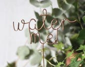 Plant Marker, Plant Topper, Water Plant Sign, Water Plants, Housewarming Gift, Gift for Friend, Plant Gift, Gift for her, Funny Gift, Plants