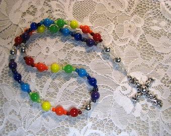 Anglican Prayer Beads-Rosary-Rainbow
